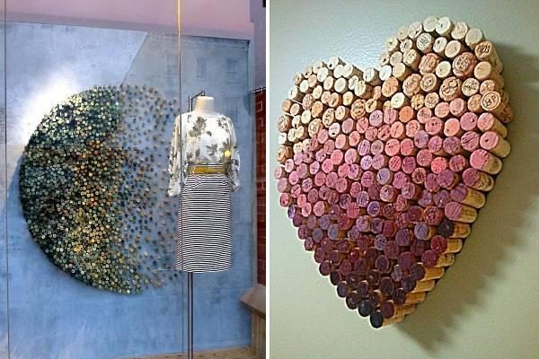 Красивый декор для стен из пробок