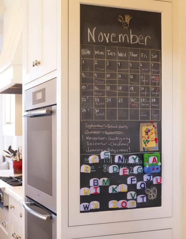 Школьная доска в дизайне кухни