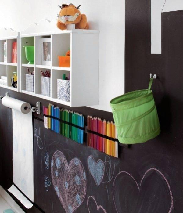 Школьная доска на стенах в детской