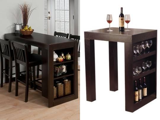 Барные стойки в виде стола с баром