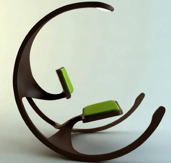 Кресло-качалка с лампой