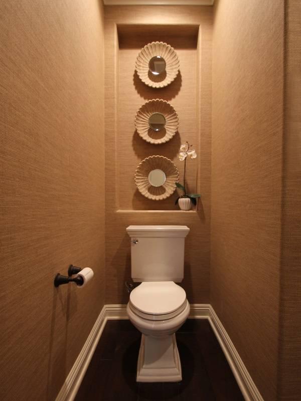 Dekor için nişli tuvalet
