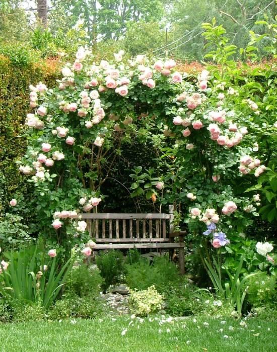 Укромное место для отдыха в саду