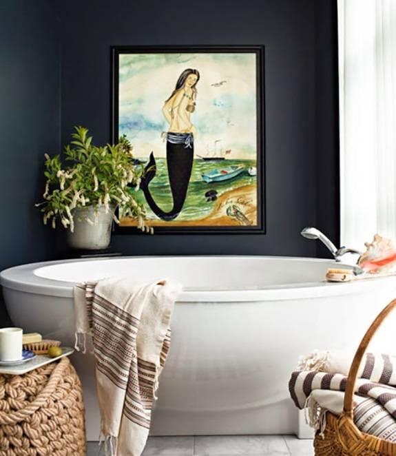Дизайн ванной комнаты в стиле винтаж