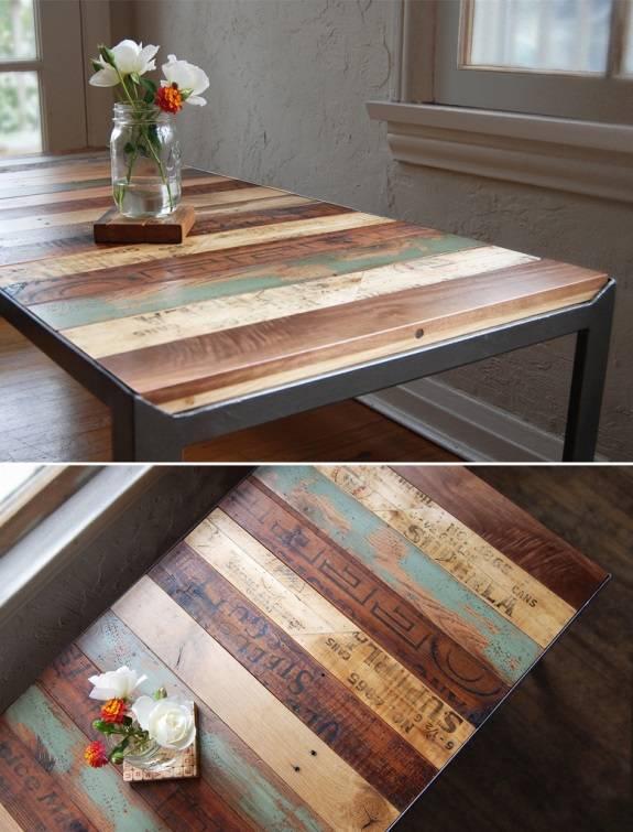 Винтажный стол своими руками