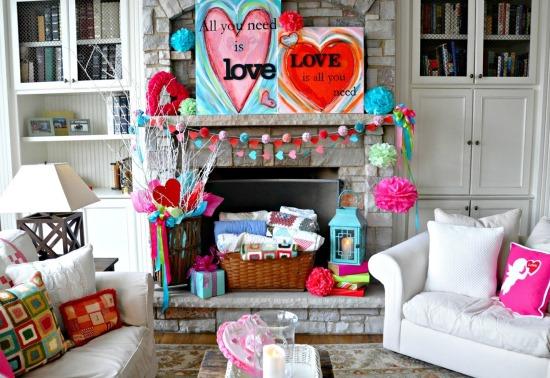 Яркое оформление дома ко Дню святого Валентина