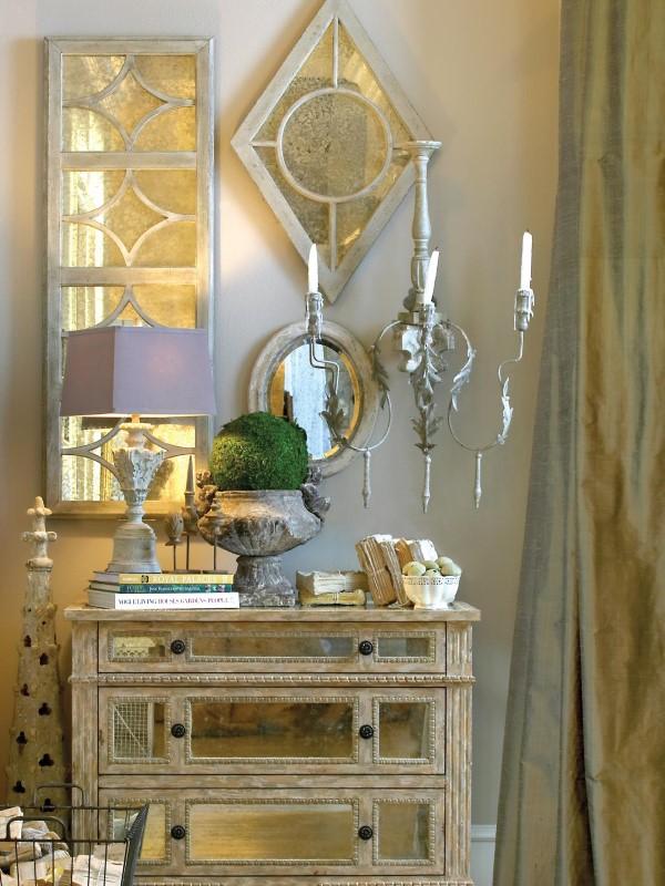 """Зеркальная мебель и декор """"под старину"""""""