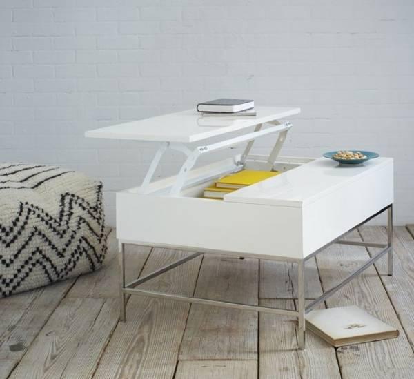 Журнальный столик с подъемной крышкой