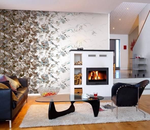 Дизайн гостиной с красивой асимметрией