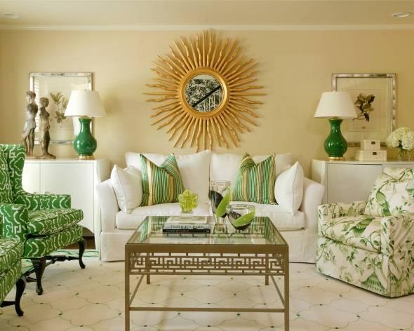 Дизайн гостиной в осенних цветах