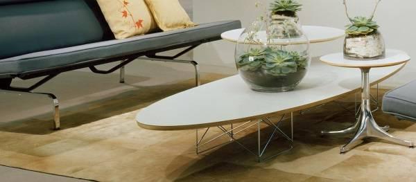 Журнальный столик Эймс в белом цвете