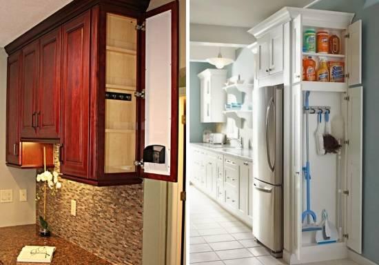 Боковые шкафчики на кухне