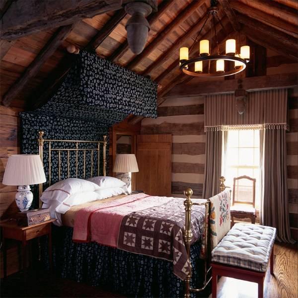 Черный балдахин в дизайне спальни