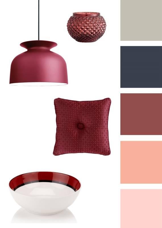 Цветовая схема с марсала