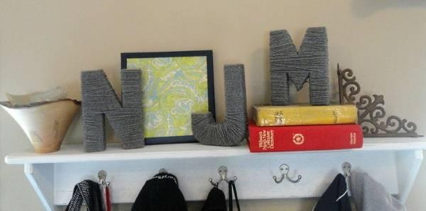 Декор с буквами