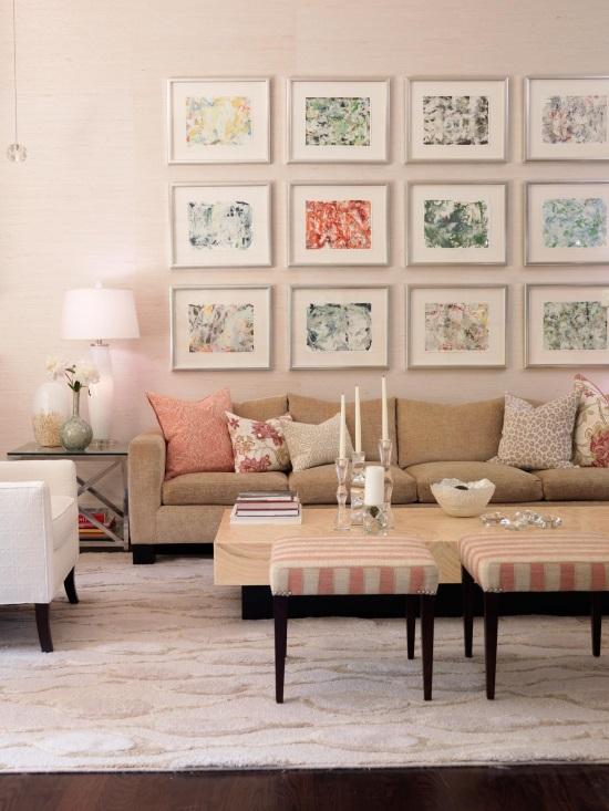 Светлые пастельные оттенки в дизайне гостиной