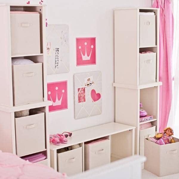 Текстильные корзины для хранения вещей в детской