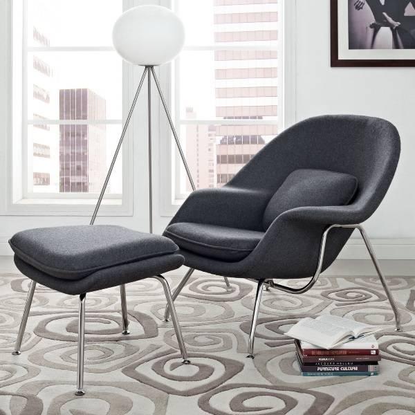 Кресло с  пуфиком от Ээро Сааринен