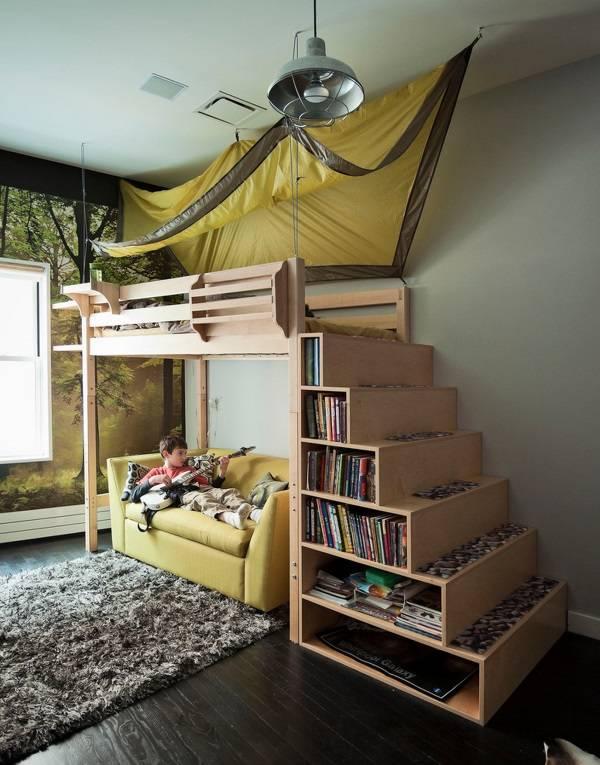 Оригинальная двухэтажная кровать