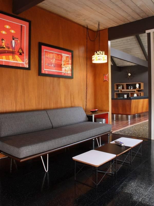 Кушетка Case Study в дизайне гостиной