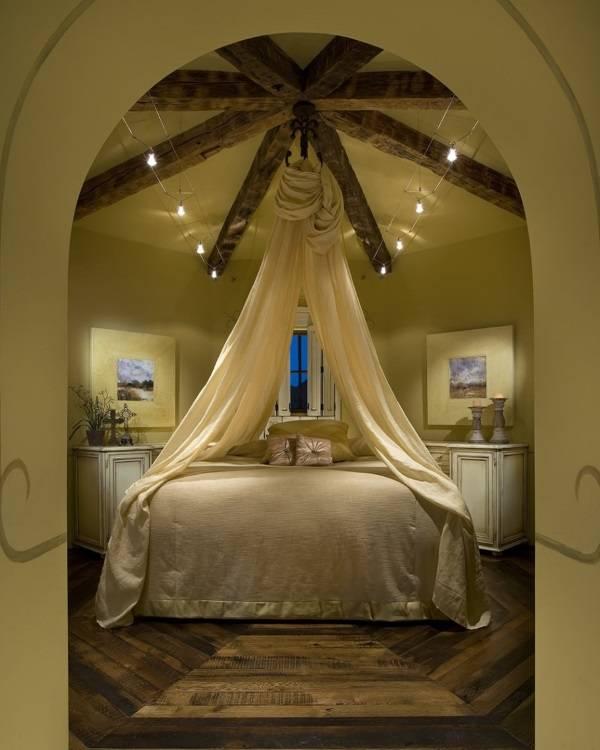 Оригинальная идея для балдахина в спальне