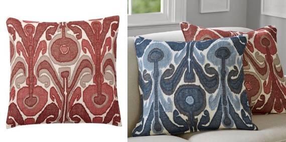 Диванные подушки цвета марсала