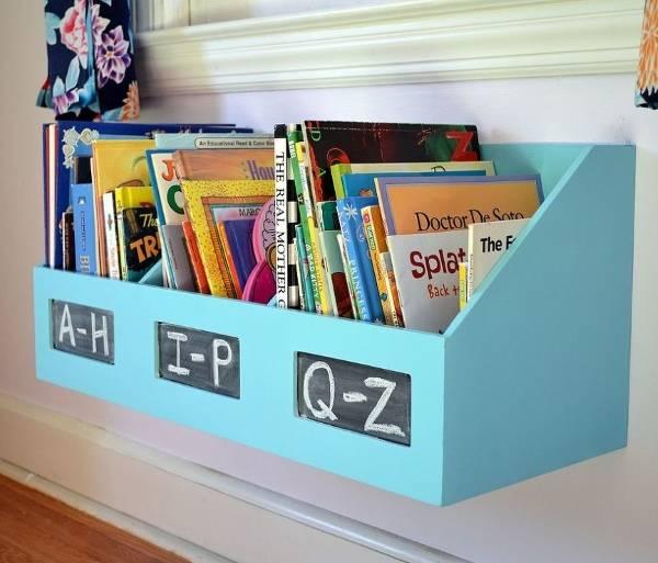Хранение детских книжек