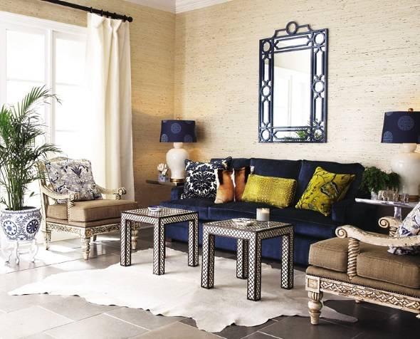 Эклектика и симметрия в дизайне гостиной