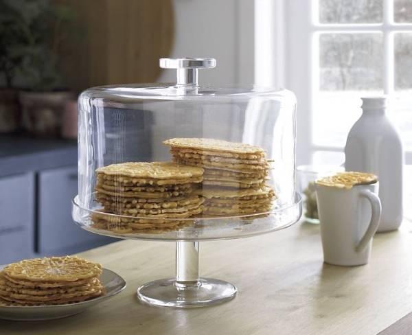 Подставка для торта из стекла с крышкой