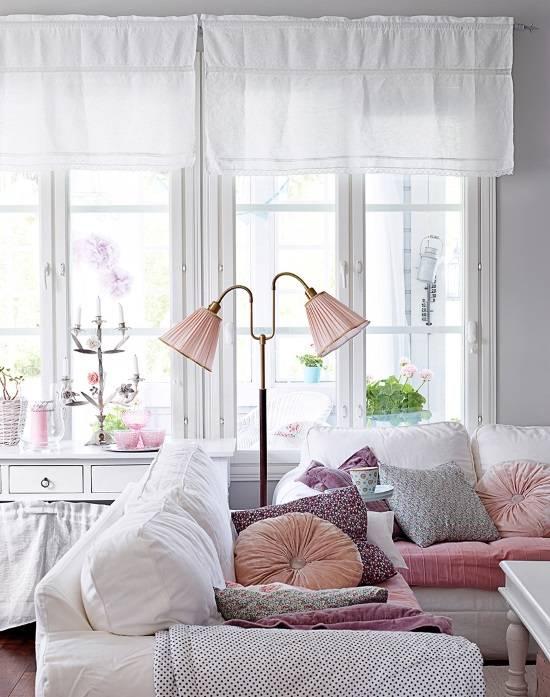 Романтическая пастель в дизайне гостиной