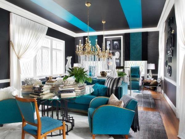 Роскошный дизайн гостиной 2015 год