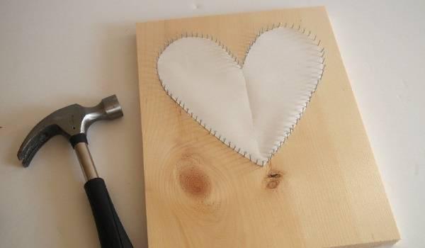 Декор сердце из ниток (шаг 4)