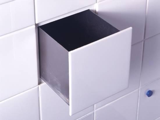 Скрытые ящики под плиткой на кухне