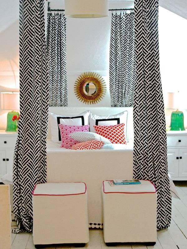 Современный дизайн спальни с балдахином