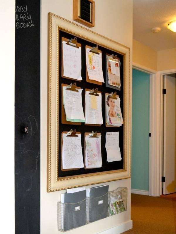 Стена детского творчества и других бумаг