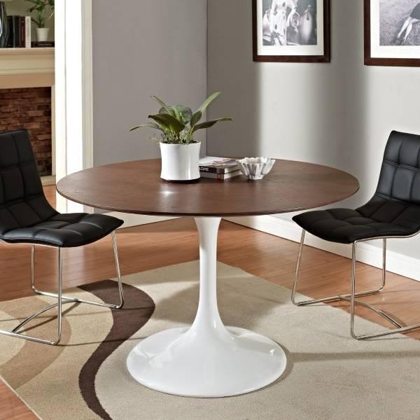 Стол Saarinen Tulip с темной столешницей