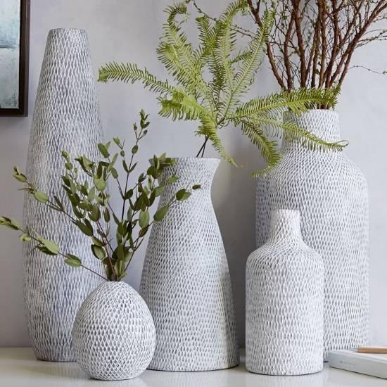 Стильные текстурные вазы
