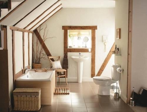 Дизайн ванной в деревенском стиле