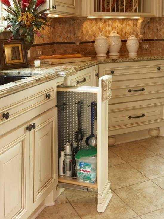 Выдвижная панель на кухне