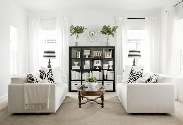 Симметричный дизайн интерьера