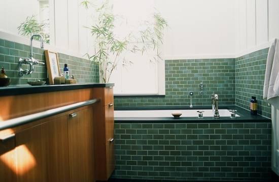 Бамбук в дизайне ванной