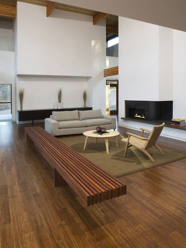 Бамбуковые полы в гостиной