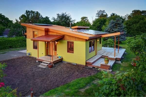 Дизайн дома с открытой верандой