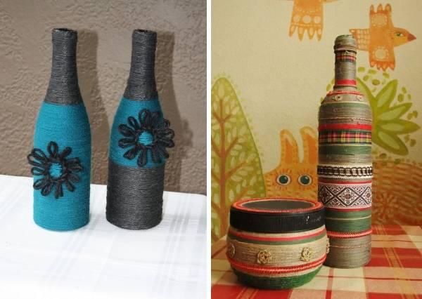 Идеи для декора бутылок своими руками