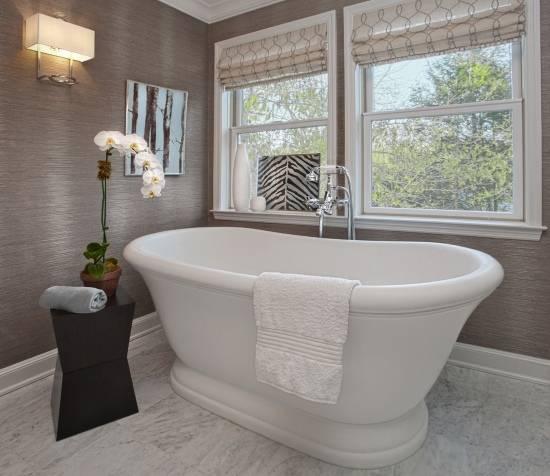 Украшение ванной комнаты в смешанном стиле