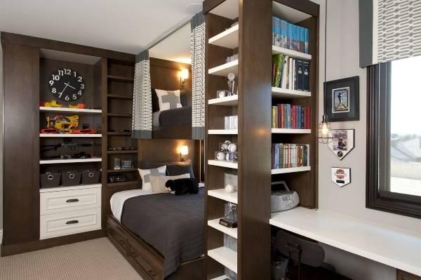 Элегантная двухъярусная кровать для мальчиков