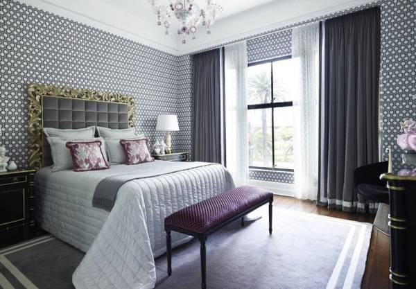 Дизайн обоев для спальни в стиле luxury