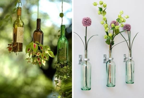 Растения и цветы в бутылках