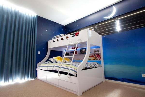 Двухъярусная кровать юных космонавтов
