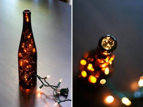 led гирлянда в бутылке